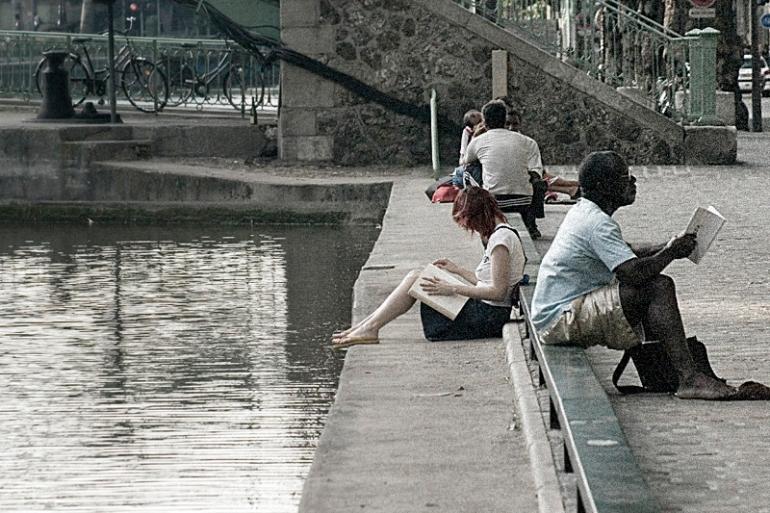 Canal Saint Martin, Paris. Julio 2006