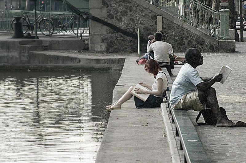 Canal Saint Martin, Paris. Julio 2006