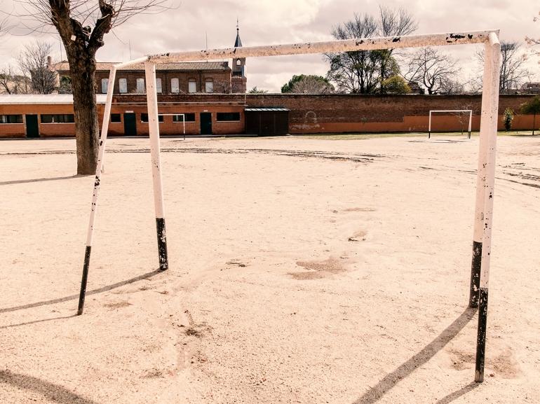 Visita al Colegio Santa Rita donde estudié en los años 70.